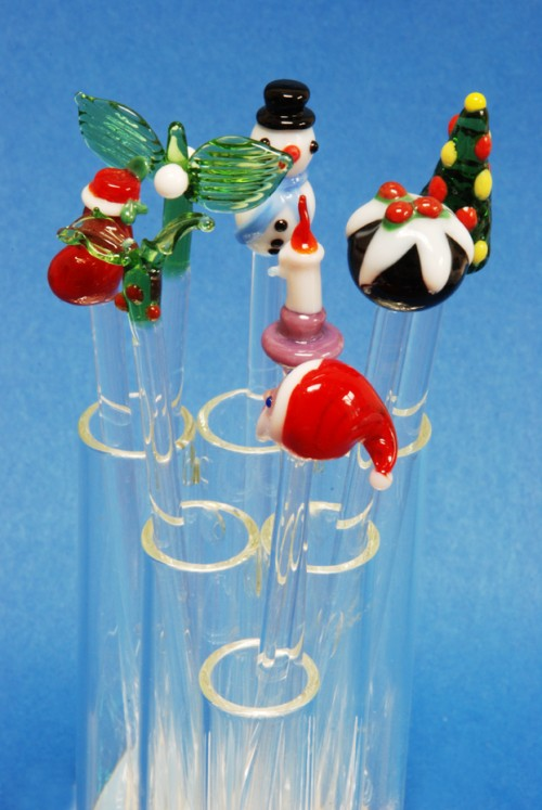 Image cocktail sticks drink stirrers christmas for Christmas in a glass cocktail