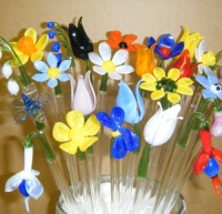 Cocktail Sticks / Drink Stirrers - Flowers