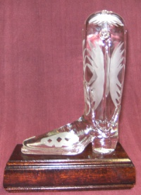 Glass Linedance Trophy