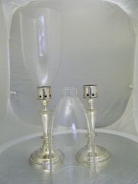 Glass shades for candle stick