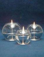 Oil Burning Glass Candles